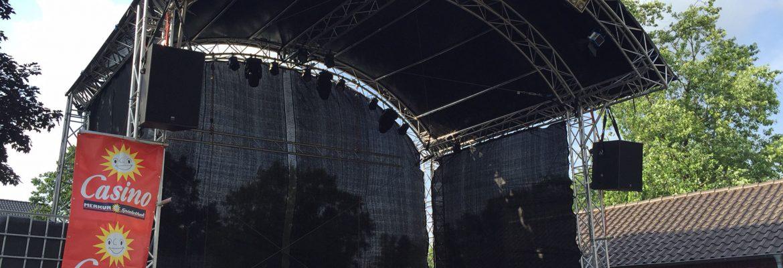 Neues im Vermietpark: Bühnendach Rundbogen 9m x 7m