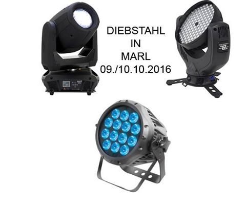 Diebstahl diverser Geräte am 09/10.10.2016 in Marl